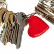 Key to heart — Stock Photo