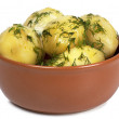 Boiled potatoes - Stok fotoraf