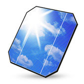 Isolated solar panel — 图库照片