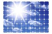太陽電池パネルのイラスト — ストック写真