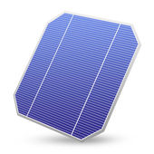 Solar energy panel isolated — Stockfoto