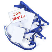 Badge with the inscription job wanted — Stock Photo
