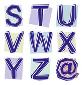 Collection of cut out letters — Stock Photo