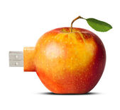 Apple flash card - new technology concept — Stock Photo