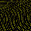 Stock Photo: Hexagons graphene structure