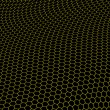 Hexagons graphene structure — Stock Photo