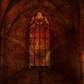 Tło z elementami architektury gotyckiej — Zdjęcie stockowe