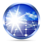 Solpaneler-ikonen — Stockfoto