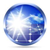 太阳能电池板图标 — 图库照片