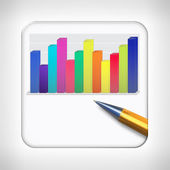 Icon template for financial applications — Stock Photo