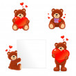 Stock Vector: Valentine bear