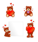 Valentine bear — Stock Vector