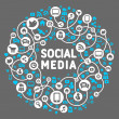 Social media, background of icons vector — Stock vektor #12662226
