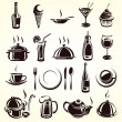 Stock Vector: Restaurant elements set