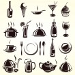 Restaurant elements set — Stock Vector