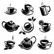 Stock Vector: Coffee set