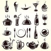 Set di elementi del ristorante — Vettoriale Stock