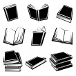 Books set. Vector — Stock Vector