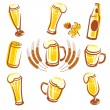 Stock Vector: Beer Set
