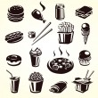 Stock Vector: Fast food set. Vector