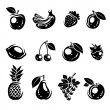 Collection of fruits set. Vector illustration — Stock Vector