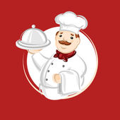 Chef cook. Vector illustration — Stock Vector