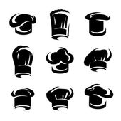 Chef hats set. Vector — Stock Vector