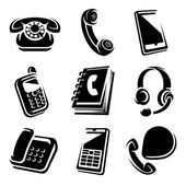 Phones set. vector icons — Stock Vector