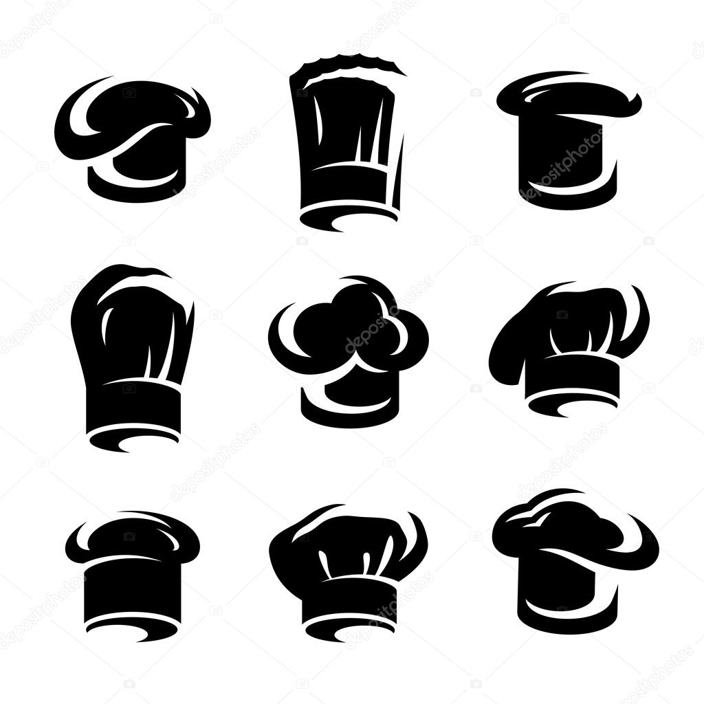 Chef Hat Icon Vector Chef Hats Set Vector — Vector