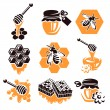 Honey set. Vector — Stock Vector