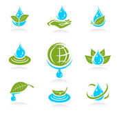 Collection ecology icons — Stock Vector