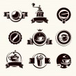 Coffee labels set. Vector — Stockvektor