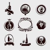 Wine labels set. Vector — Stock Vector