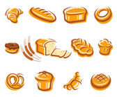 Bread set. Vector — Stock Vector
