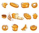 Bread set. Vector — Stock Vector