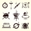 Stock Vector: Grill elements set. Vector