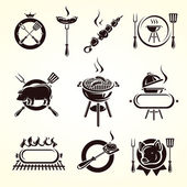 Grill elements set. Vector — Stock Vector