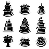 Cake set. Vector — Stock Vector