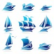 Stock Vector: Ships set.