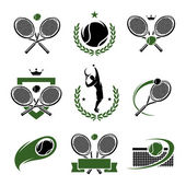 Tennis labels and icons set. — Stock Vector