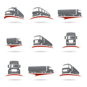 Trucks set. — Stock Vector