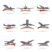 Airplane set. — Stock Vector
