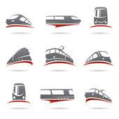 Trucks set. — Vettoriale Stock