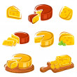 Stock Vector: Cheese set. Vector