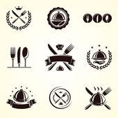 Restaurant labels set. — Stock Vector