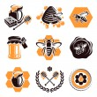 Honey set. Vector — Vector de stock