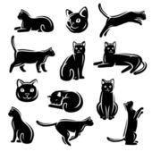 Cat set. Vector — Stock Vector