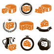 Cheese set. Vector — Stock Vector