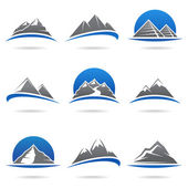 Mountains set. — Stock Vector