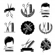 Stock Vector: Barber shop set